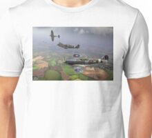303 Squadron Spitfire sweep (cropped version) Unisex T-Shirt