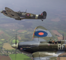 303 Squadron Spitfire sweep (cropped version) Sticker