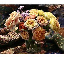 roses patchwork Photographic Print