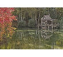 Hut of fisherman in autumn  Photographic Print