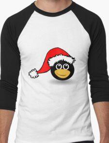 Christmas Penguin Men's Baseball ¾ T-Shirt