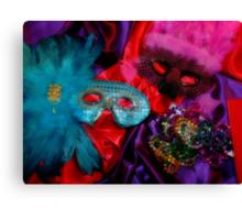 Mardi Gras Masks Canvas Print