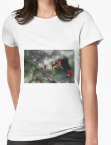 Spring Botanicals - Bokeh Buds Womens Fitted T-Shirt