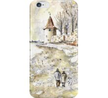 Family Walk In Lindau On Lake Constance iPhone Case/Skin