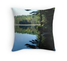 Reflections at Beaver Pond Throw Pillow