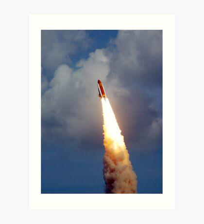 STS 122 Launch.   Art Print