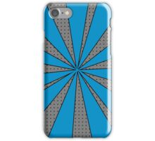 Pop Art Blue and Grey Starburst, Teen Boy Print iPhone Case/Skin