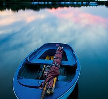 Dinghy at Sunset by Alex Wagner