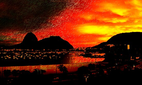 Rio de Janeiro Sunset by Cassie Sitnik