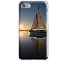 Yacht at Sunset #1 iPhone Case/Skin