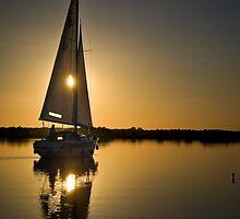 Sun Breaking Through Sails by Alex Wagner