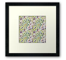 Rainy day pattern. Spring version Framed Print