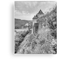 BW France Castelnaud Canvas Print