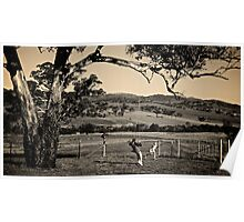Farm Swing Sepia Poster