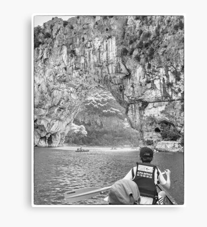 BW France Pont D'Arc Canvas Print