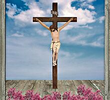Jesus on the Cross Illustration by DFLC Prints
