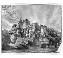 BW France Chateau de Belcayre Poster