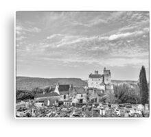 BW France Chateau Beynac Canvas Print