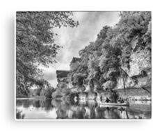 BW France Vezere River Canvas Print