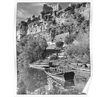 BW France Chateau Beynac & Punts Poster