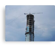 Building under construction, Mumbai, India Canvas Print