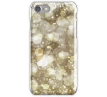 Sparkling gold Bokeh Print iPhone Case/Skin