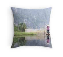 Yen Vi River Vietnam Throw Pillow