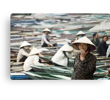Yen Vi River Tam Coc Canvas Print