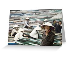Yen Vi River Tam Coc Greeting Card
