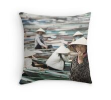 Yen Vi River Tam Coc Throw Pillow