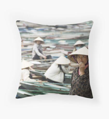Yen Vi River Tam Coc Throw Pillow