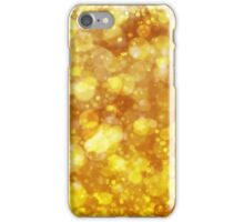 Sparkling Gold Bokeh Print iPhone Case/Skin