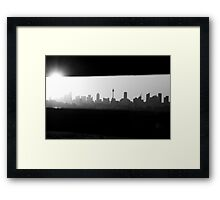 Just Another City Bench Framed Print
