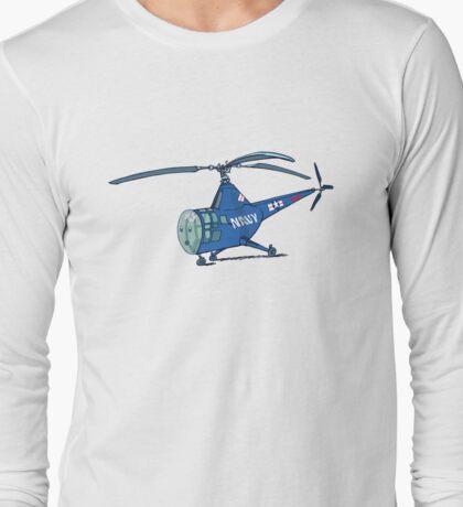 little blue dragonfly Long Sleeve T-Shirt