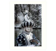 Venetian costume Art Print