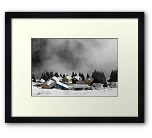 Chalets in the Alps Framed Print