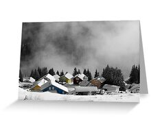 Chalets in the Alps Greeting Card