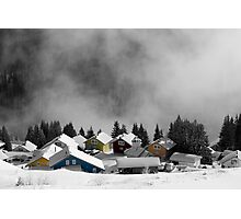Chalets in the Alps Photographic Print