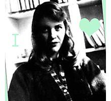 I Heart Sylvia Plath Photographic Print