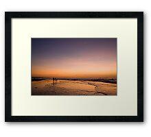 Dusk on Tuban Beach Bali Framed Print
