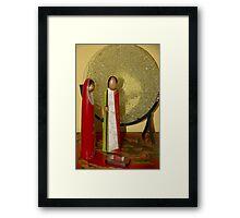 Simple Nativity Scene Framed Print