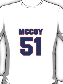 National football player Larry McCoy jersey 51 T-Shirt