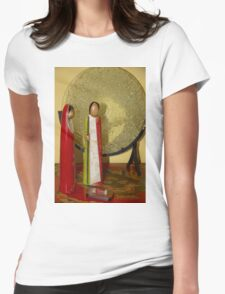 Simple Nativity Scene Womens Fitted T-Shirt