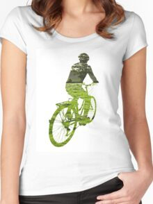 Green Transport 5 Women's Fitted Scoop T-Shirt