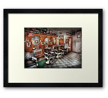 Barber - Frenchtown Barbers  Framed Print