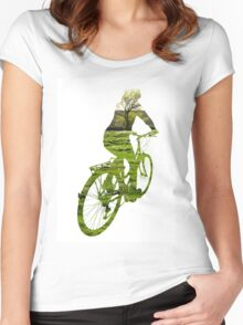 Green Transport 4 Women's Fitted Scoop T-Shirt