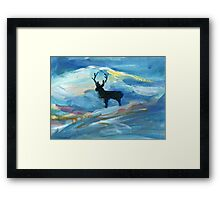Lone Stag Framed Print