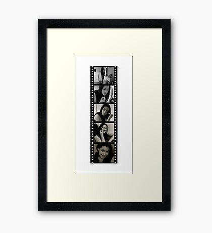 Film strip Framed Print