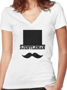 Djentleman Women's Fitted V-Neck T-Shirt