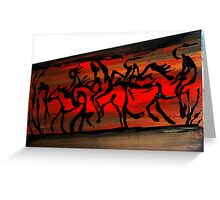 Sunset Hunt Greeting Card